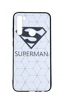 Zadní 3D silikonový kryt na Xiaomi Redmi Note 8 Bílý Superman