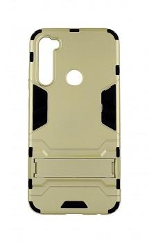 Ultra odolný zadní kryt na Xiaomi Redmi Note 8 se stojánkem zlatý