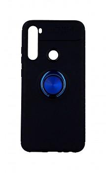 Zadní silikonový kryt na Xiaomi Redmi Note 8 černý s modrým prstenem