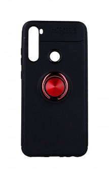 Zadní silikonový kryt na Xiaomi Redmi Note 8 černý s červeným prstenem