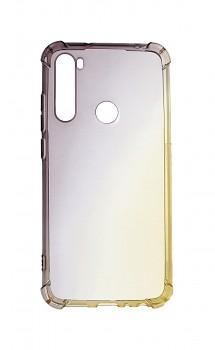 Zadní silikonový kryt na Xiaomi Redmi Note 8 Shock duhový purpurovo-žlutý