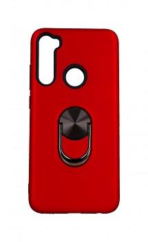 Zadní pevný kryt na Xiaomi Redmi Note 8 červený s prstenem 2v1