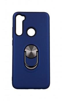 Zadní pevný kryt na Xiaomi Redmi Note 8 tmavě modrý s prstenem 2v1