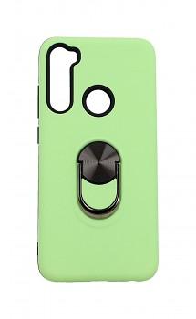 Zadní pevný kryt na Xiaomi Redmi Note 8 zelený s prstenem 2v1