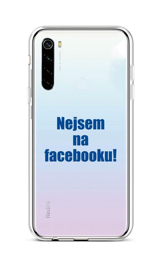 Kryt TopQ Xiaomi Redmi Note 8T silikon Nejsem na Facebooku 46483 (pouzdro neboli obal na mobil Xiaomi Redmi Note 8T)