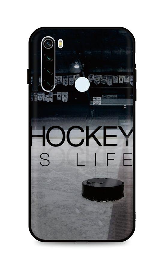 Kryt TopQ Xiaomi Redmi Note 8T silikon Hockey Is Life 46513 (pouzdro neboli obal na mobil Xiaomi Redmi Note 8T)