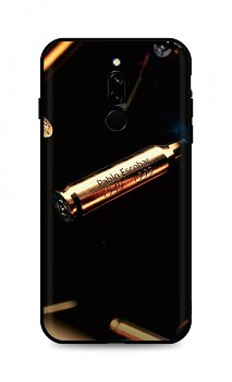 Zadní silikonový kryt DARK na Xiaomi Redmi 8 Pablo Escobar Bullet