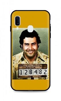 Zadní silikonový kryt DARK na Samsung A20e Pablo Escobar
