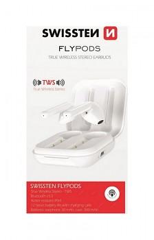 Bluetooth sluchátka SWISSTEN Flypods bílá