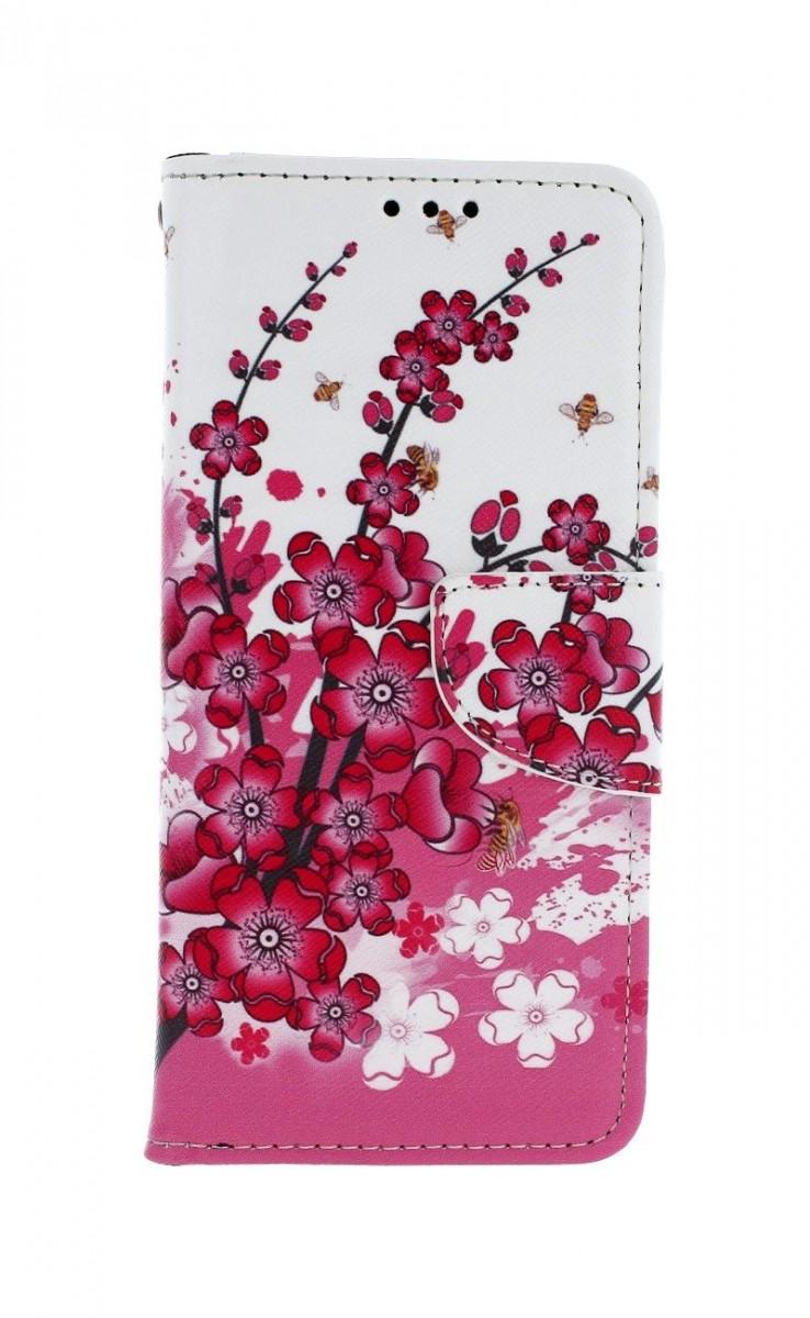 Knížkové pouzdro na Xiaomi Redmi Note 8T Kytičky textil