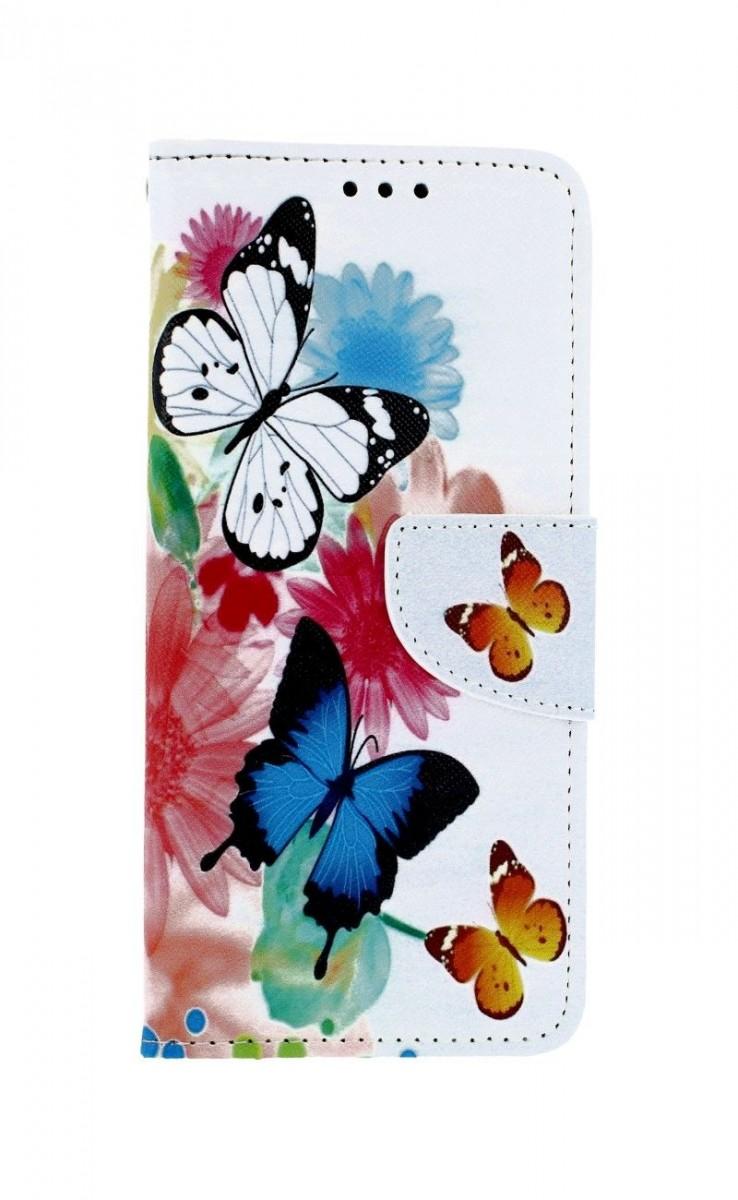 Knížkové pouzdro na Xiaomi Redmi Note 8T Barevné s motýlky