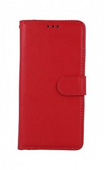 Knížkové pouzdro na Xiaomi Redmi Note 8T červené s přezkou