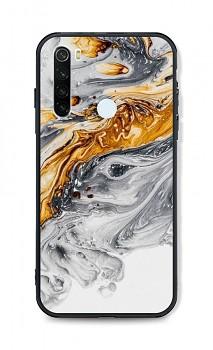 Zadní pevný kryt LUXURY na Xiaomi Redmi Note 8T Marble šedo-zlatý
