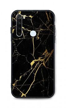 Zadní pevný kryt LUXURY na Xiaomi Redmi Note 8T Marble černo-zlatý