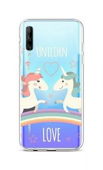 Zadní silikonový kryt na Huawei P Smart Pro Unicorn Love