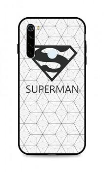 Zadní 3D silikonový kryt na Xiaomi Redmi Note 8T Bílý Superman