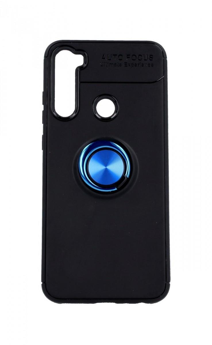 Pouzdro TopQ Xiaomi Redmi Note 8T silikon černý s modrým prstenem 47063 (kryt neboli obal na mobil Xiaomi Redmi Note 8T)