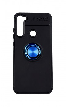 Zadní silikonový kryt na Xiaomi Redmi Note 8T černý s modrým prstenem