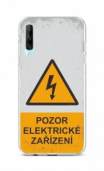 Zadní silikonový kryt na Huawei P Smart Pro Pozor elektrické zařízení