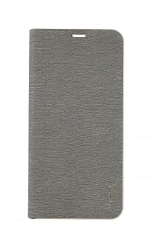 Knížkové pouzdro Luna Book na Samsung A80 stříbrné