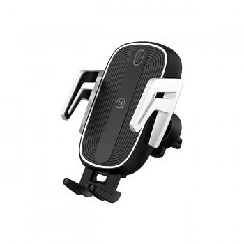 Držák na mobil s funkcí bezdrátového nabíjení USAMS CD100 černý