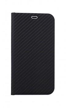 Knížkové pouzdro Luna Carbon Book na iPhone 11 Pro Max černé