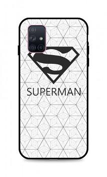 Zadní 3D silikonový kryt na Samsung A71 Bílý Superman