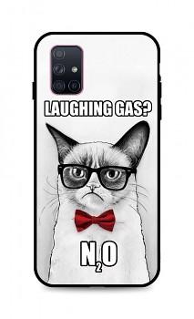 Zadní 3D silikonový kryt na Samsung A71 Grumpy Cat