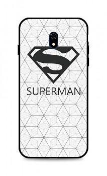 Zadní 3D silikonový kryt na Xiaomi Redmi 8A Bílý Superman