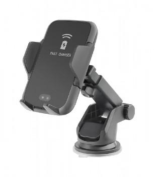 Držák na mobil s funkcí bezdrátového nabíjení Forcell SMART černý