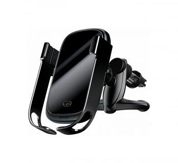 Držák na mobil s funkcí bezdrátového nabíjení Baseus Rock-solid Vehicle černý