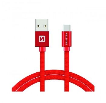 Datový kabel Swissten microUSB 1,2m červený