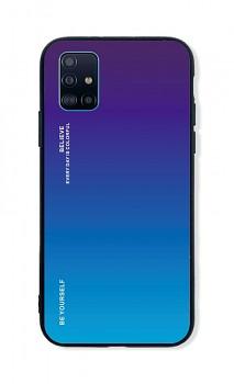 Zadní pevný kryt LUXURY na Samsung A51 duhový purpurový