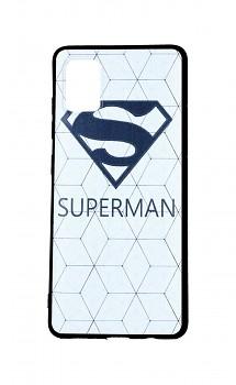 Zadní 3D silikonový kryt na Samsung A51 Bílý Superman