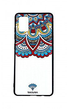 Zadní 3D silikonový kryt na Samsung A51 Barevný motiv