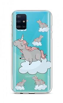 Zadní silikonový kryt na Samsung A51 Grey Unicorns