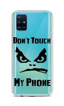 Zadní silikonový kryt na Samsung A51 Don't Touch průhledný