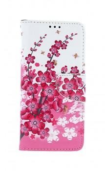 Knížkové pouzdro na Samsung A51 Kytičky textil
