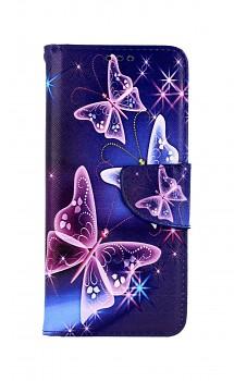 Knížkové pouzdro na Samsung A51 Modré s motýlky