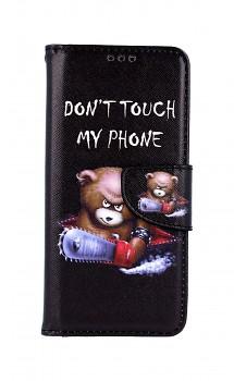Knížkové pouzdro na Samsung A51 Don't Touch méďa