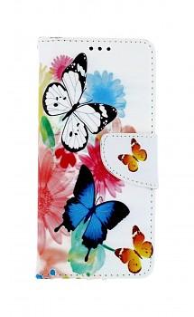 Knížkové pouzdro na Samsung A51 Barevné s motýlky