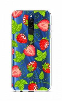 Zadní silikonový kryt na Xiaomi Redmi 8 Strawberries