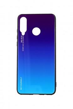 Zadní pevný kryt LUXURY na Huawei P30 Lite duhový purpurový
