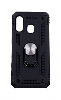 Ultra odolný zadní kryt na Samsung A40 Hybrid s prstenem černý