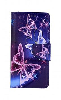 Knížkové pouzdro na Xiaomi Redmi 8A Modré s motýlky