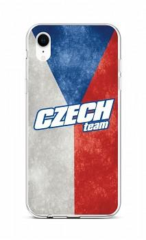 Zadní silikonový kryt na iPhone XR Czech Team