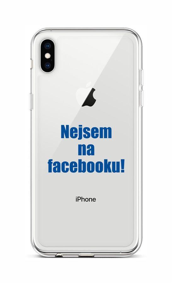 Kryt TopQ iPhone XS silikon Nejsem na Facebooku 48525 (pouzdro neboli obal na mobil iPhone XS)
