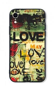 Zadní pevný kryt LUXURY na iPhone XR Love