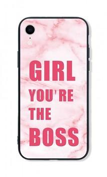 Zadní pevný kryt LUXURY na iPhone XR Girl Boss