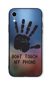 Zadní pevný kryt LUXURY na iPhone XR Don´t Touch Hand